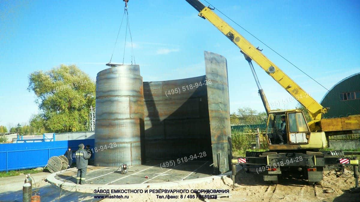 вертикальный резервуар на 500 тонн